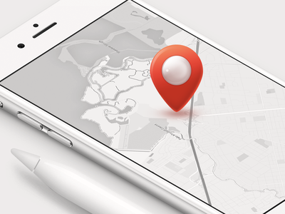 Pin perl palo alto reinvently location map illustration interface mobile blackwhite red icon pin