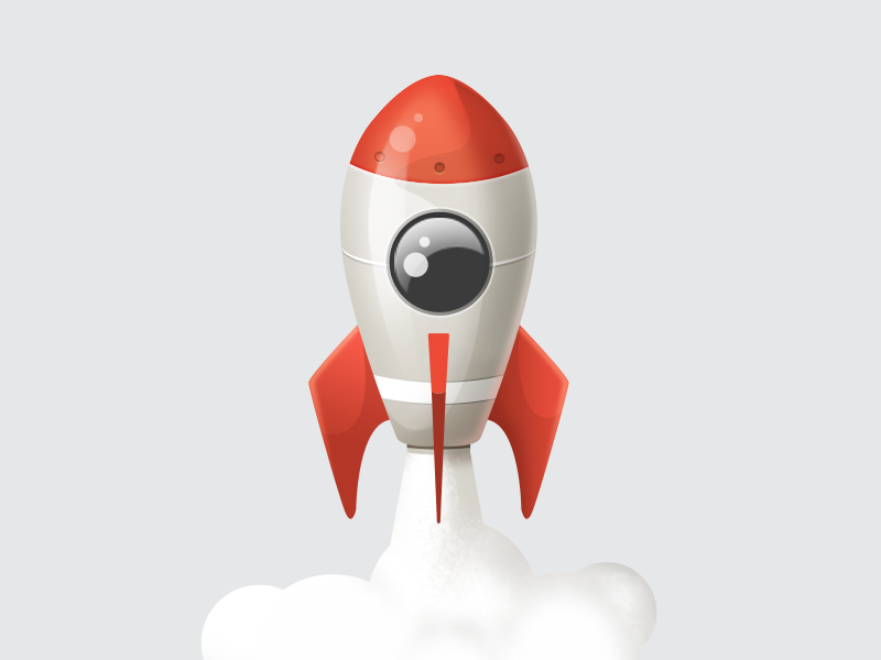 Red Rocket Icon Rocket icon by ...
