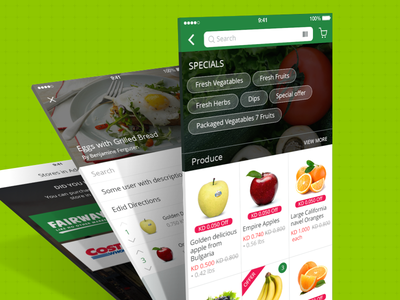 On-demand Grocer interface design ux ui filter catalog product design mobile store app design ios grocer on-demand