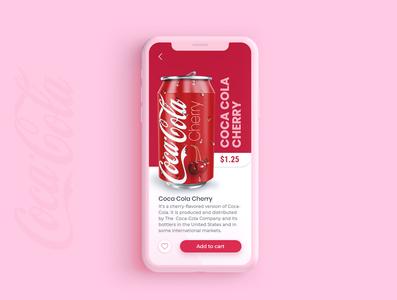 Cherry Coke ux design ux ui  ux concept coca-cola coke ui adobexd design adobe xd
