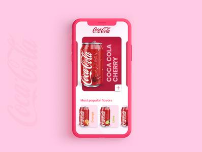 Coke Cherry coca-cola ux ui adobexd ui  ux concept adobe xd design