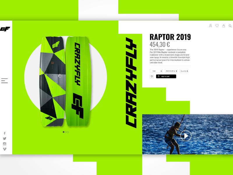 CrazyFly web Concept kite concept design web