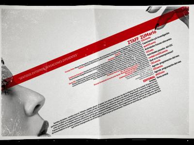 Ztaff Revista ZUM typogaphy design editorial