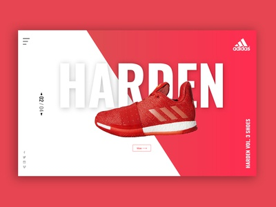 Harden typography web concept design ui  ux adobe xd