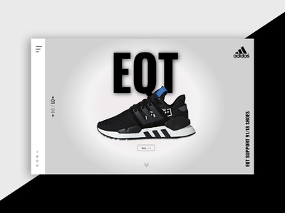 EQT Adidas ui  ux typogaphy web adobe xd design