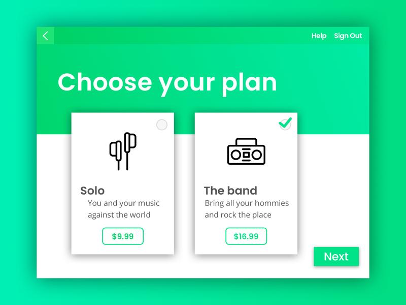 Daily UI 030 - Pricing green design sketchapp ux sketch ui dailyui