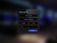 Reserve form for restaurant