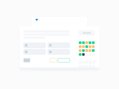 Test Series - Looping Animation aniamted gif loop animation animations ux ui uiux dashboard ui web website hover card buttons clock timer cursor dashboard looping loop animation unacademy