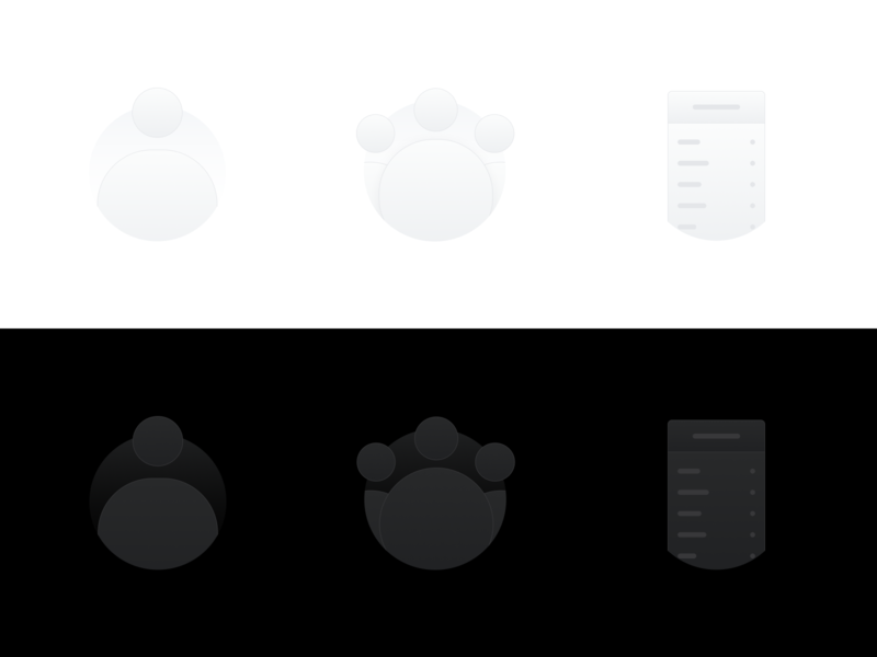 Empty State Illustrations profile personal people iconography iconset icons redesign web page screen empty states empty state illustration dark dark mode interaction uiux mobile ui mobile app mobile