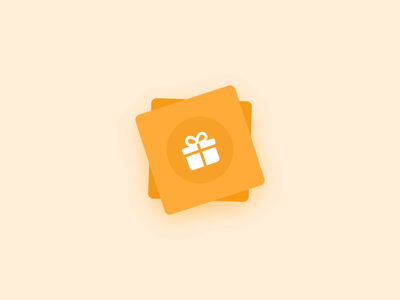 Animated Referral Cards - Lottie Animation motion design animation design invitation invite mobile app design mobile app aniamtion lottie unacademy gift card gift box gift referrals referral cards ui interface mockup screen cards animation