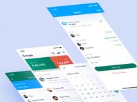 Splitwise Screens icons visual design visual coin finance money cards redesign overlay button calendar isometric ux design ui design mobile app app concept app icon app design app ui