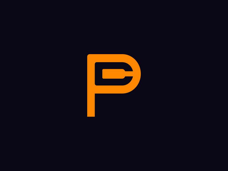 P + C Logo Concept - Pat Cervantes minimal monogram symbol mark brand identity c logo p logo logo negative space