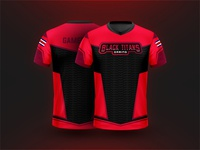eSports Jersey Design - Black Titans Gaming