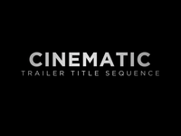 Free Dark Cinematic Trailer Title Template