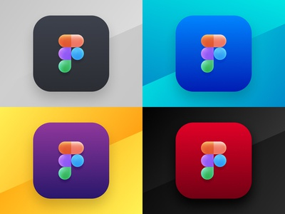 4 Color Variations for Figma App Icon