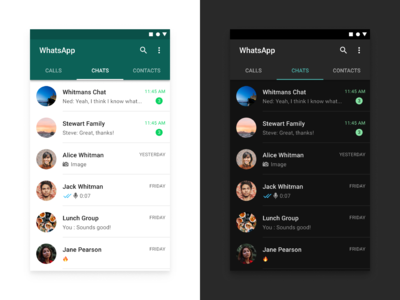 WhatsApp - The Ultimate Guide to Designing Dark Theme