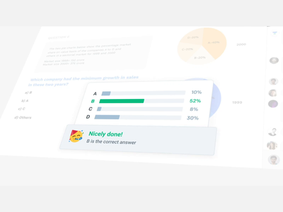 Unacademy Plus Promo uidesign chart analytics graphic college teachers students emojis emoji video live class classroom polls survey messaging chat trailer animation promo