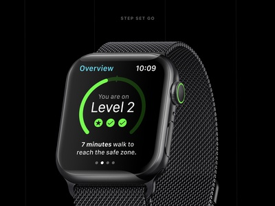 StepSetGo - Apple Watch App Concept
