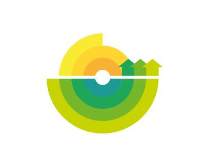 Target town arrow landscape town target picto logo