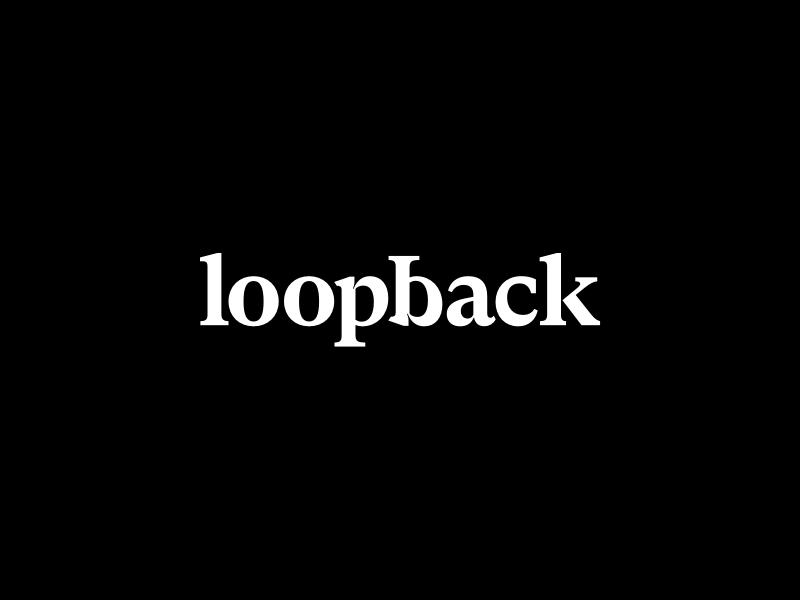 Loopback wordmark dribbble