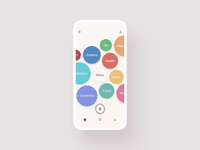 CocoonWeaver: Where Ideas Grow — Interaction User Flow ux ui ios mobile after effects animation mobile ui visual minimal clean product design record circles colorful bubbles motion motion design iphone x prototype interaction design