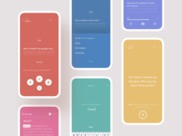 CocoonWeaver: Where Ideas Grow — Appearances app interface fab empty state swatches colors themes appearances iphone x colorful record product design clean minimal visual mobile ui mobile ios ui ux