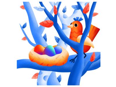 Catbird's nest
