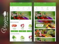 Veggies Food Delivery App Concept