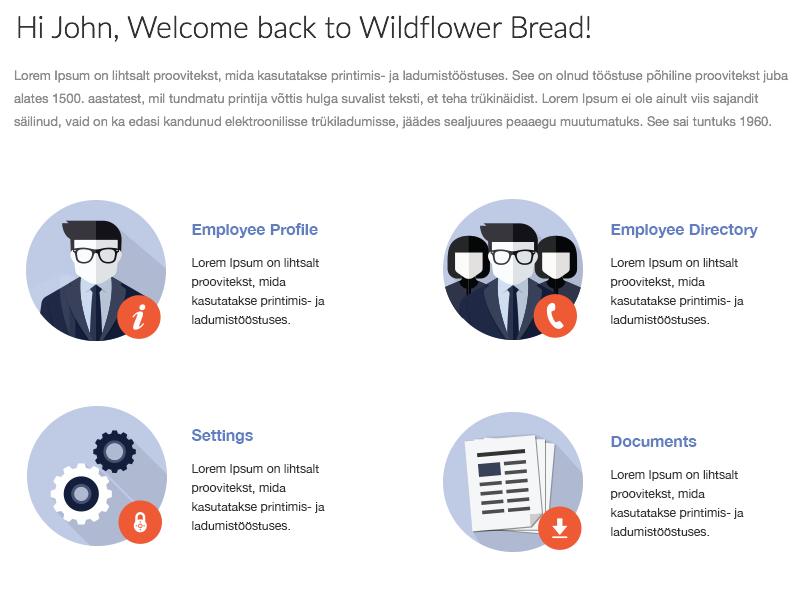 Ziphire Employee Dashboard ziphire ziprecruiter hires documents directory employee profile dashboard welcome settings flat icons