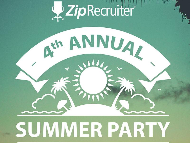 ZipRecruitor Summer Party Invitation ziprecruiter invite summer party