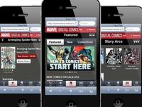 Marvel Comic Mobile app design