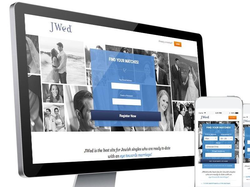 Jwed New Homepage Responsive Design jwed dating jewish blue design