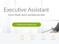 Executive Assistant Landing Page