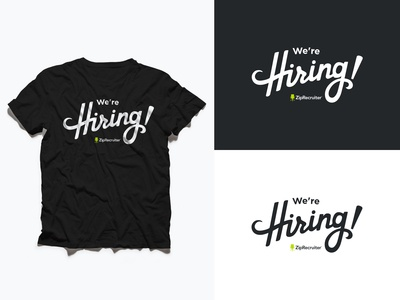 We're Hiring, Logo and T-Shirt