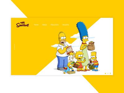 The Simpsons Concept ui design web design yellow cartoon concept website the simpsosns simpsons