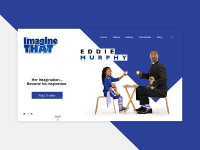 Imagine That website concept film eddie murphy blue ui design web design concept website concept movie imagine that