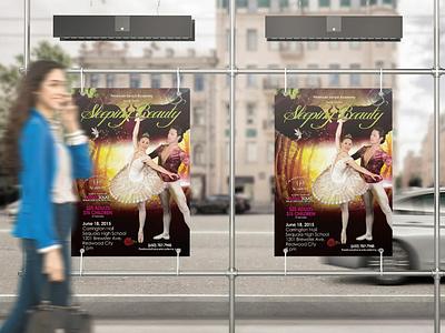 Sleeping Beauty Ballet Poster dance invite theatre show forest dreamy design graphic design flyer poster ballet sleeping beauty