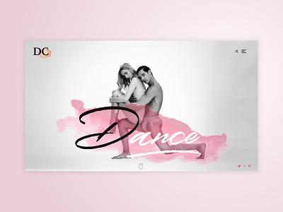 Dance web page Concept dance school ballet digital design uiux design black and white concept web page website dance