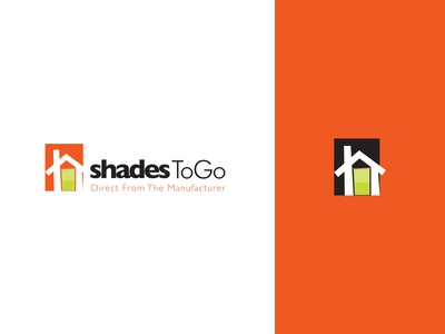 Shades To Go Logo graphic design window shades go shades simple logotype type logo letters identity font flat branding