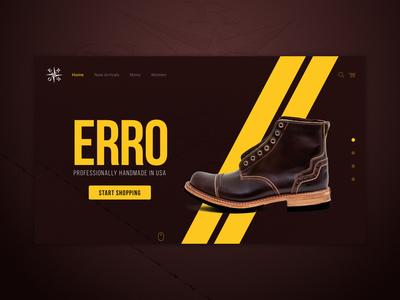 Erro Shoes Photos and Website Concept