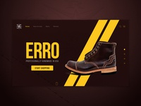 Erro Shoes Photos and Website Concept