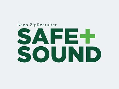 Safe & Sound logo ziprecruiter plus graphic design concept design poster branding logo sound safe