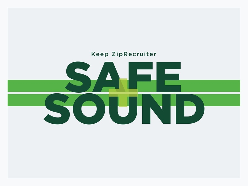 Safe & Sound logo ziprecruiter concept poster safety graphic design branding hotline design logo sound safe