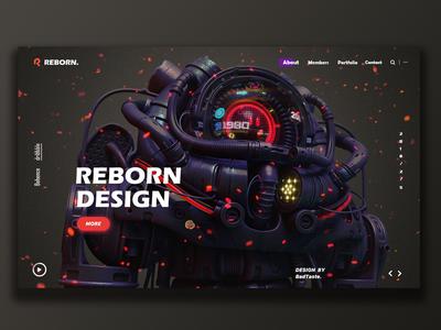 Reborn-design team mainpage landingpage ui webpage webdesign website team web