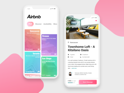 Airbnb-app augmented reality user experience post ios scroll feeds card career minimalist ux ui app