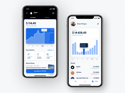 Stock Trading App Design invest app invest mobile app application design interface design investors fund charts trader trading crypto finance investment investing stock app stocks ux ui