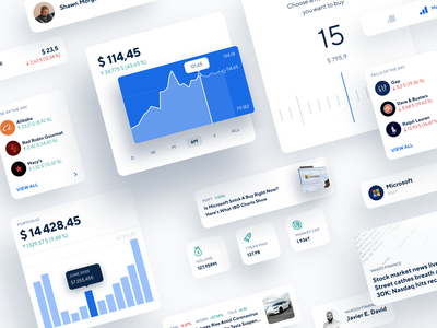 Stock Trading App UI Pattern home page profile clean ui clean user interface platform tools web design ui patterns stock market investment pattern ui pattern stock design ui ux