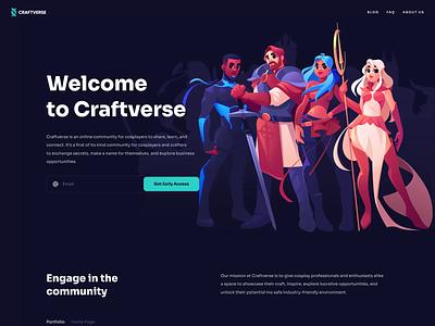 Cosplay Platform Website motion graphics ui design animation interaction website transition cosplay platform transition illustration web design website animation