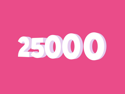Celebrating 25K design animated followers microinteraction motion graphics animated illustration morphing dribbble interaction transition motion design animation