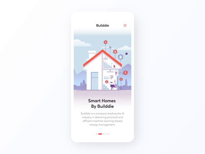 Smart Homes by Builddie Animation iphone 11 10 iphone 11 10 ios interaction transition animated illustration motion design animation illustration builddie mobile ux ui